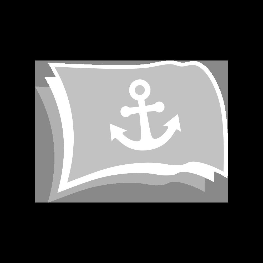 Witte platte vlaggenmastknop