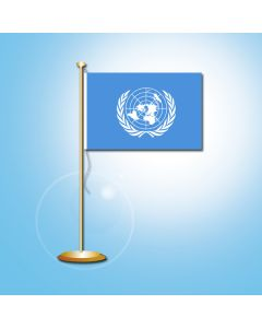 Tafelvlag Verenigde Naties 10X15 cm