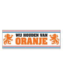 Spandoek Wij Houden Van Oranje - 70x250cm