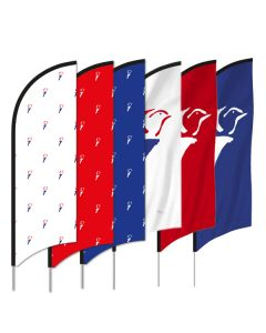 Vrijheids beachflag - Maat L