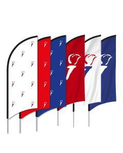 Vrijheidsbeachflag - Maat S