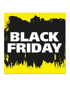 Black Friday raamsticker 50 x 50 cm