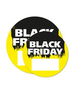 Black Friday sticker ⌀ 50 cm met schrijfvlak