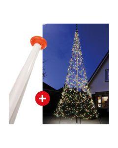 FairyBell 1200 mulit colour kerstverlichting + vlaggenmast