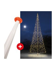 FairyBell 1200 Twinkle kerstverlichting + vlaggenmast