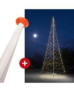 FairyBell 1200 kerstverlichting + vlaggenmast