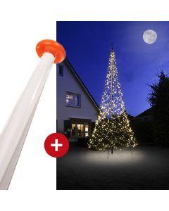 FairyBell 1500 kerstverlichting + vlaggenmast 8 meter
