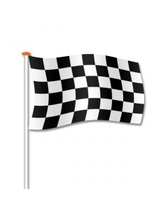 Finishvlag zwart-wit geblokt 70x100 cm