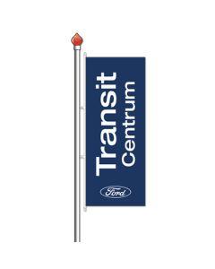 Banier FORD TRANSIT CENTRUM donkerblauw 120x300 cm