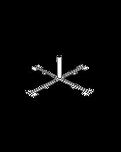 Parasolvoet, kruis, 50cm, Ø60mm max.