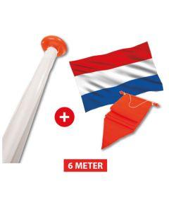Polyester vlaggenmast aanbieding - 6 meter