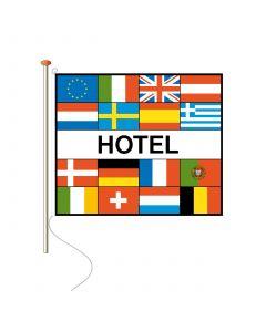 Vlaggen met tekst Hotel 100 x 150 cm