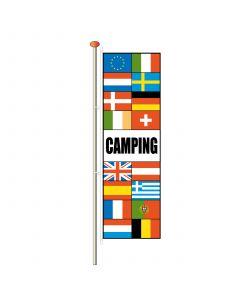 Vlaggen met tekst Camping 290 x 90 cm