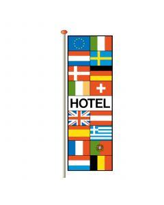 Vlaggen met tekst Hotel 290 x 100 cm