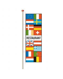 Vlaggen met tekst Restaurant 290 x 100 cm