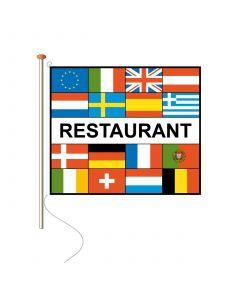 Vlaggen met tekst Restaurant 150 x 225 cm