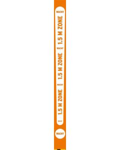Plafondlamel 1,5 m zone oranje