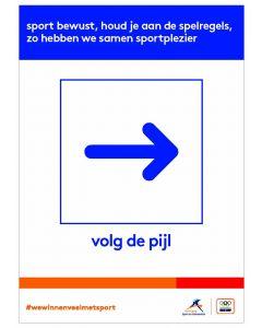 NOC*NSF Sportprotocol 'volg de pijl (rechts)'