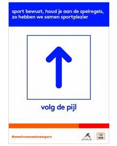 NOC*NSF Sportprotocol 'volg de pijl (rechtdoor)'