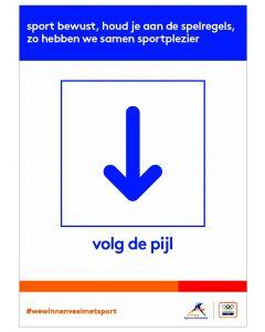 NOC*NSF Sportprotocol 'volg de pijl (beneden)'