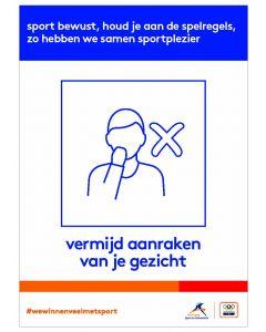 NOC*NSF Sportprotocol 'vermijd aanraken van je gezicht'