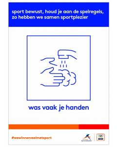 NOC*NSF Sportprotocol 'was vaak je handen'