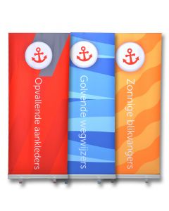 Roll-up display 100 x 200 cm.