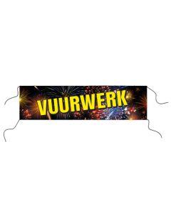 """Spandoek """"Vuurwerk"""" 80x300cm"""