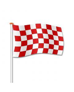 startvlag rood-wit geblokt 50x75