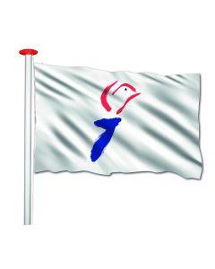 Vier Vrijheid vlag met fakkel