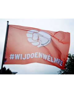 FightTheVirus - vlag 100x150cm #wijdoenwélmee