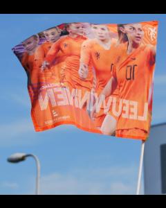 Zwaaivlag OranjeLeeuwinnen 50x65 cm